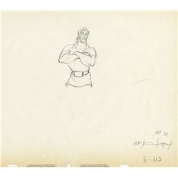 42 sequential animation drawings from Beauty and the Beast