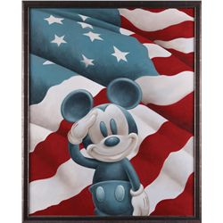 """Mickey Salutes America"" original artwork by Peter Emmerich"