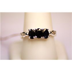 Lady's Fancy White Gold Black Diamond Ring