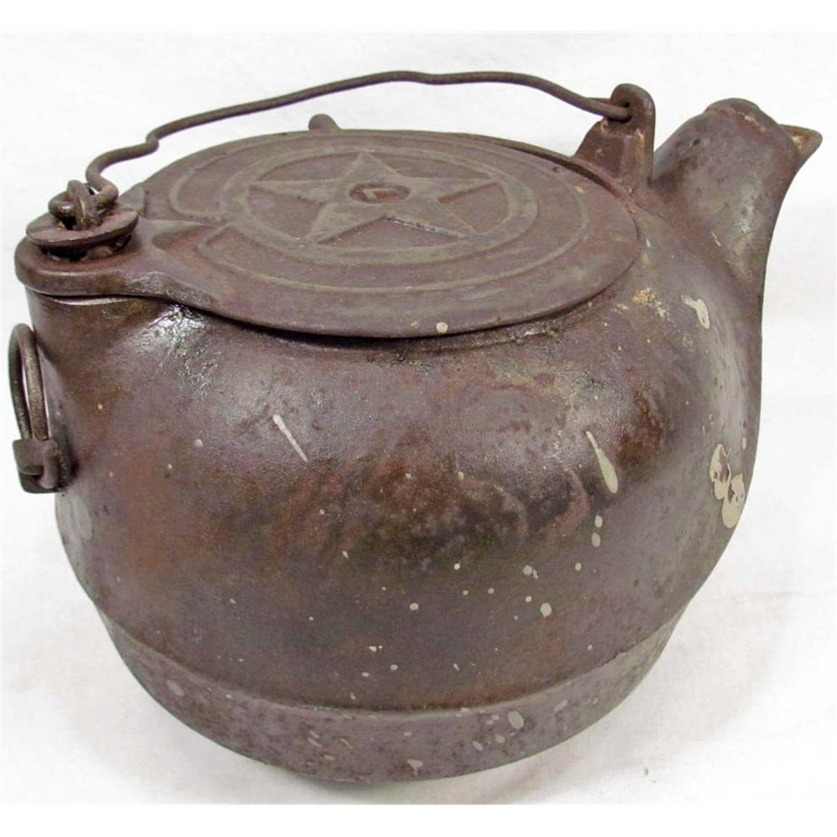 Antique Cast Iron ~ Vintage cast iron tea kettle
