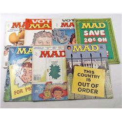 LOT OF 7 VINTAGE MAD MAGAZINES