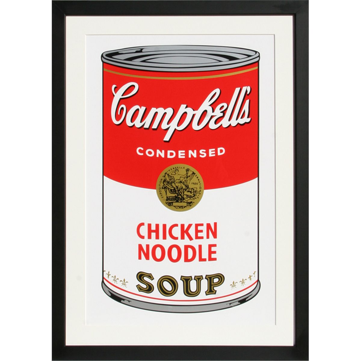 Andy Warhol, Campbell's Soup Can: Chicken Noodle, Serigraph