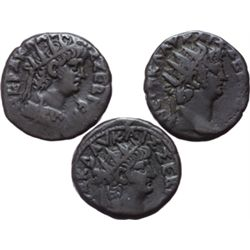 Nerone (54-68). Lotto di 3 tetradracme da classificare. Alexandria, Egitto.