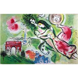 "Chagall ""Romeo & Juliet"" Ltd Edition Litho, W/COA, 32""x 24"""