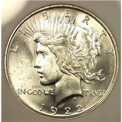1922 Brilliant Uncirculated Silver Peace Dollar
