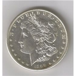 BEAUTIFUL 1889-S CHOICE BU MORGAN DOLLAR
