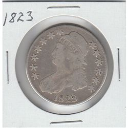 RARE  CAPPED BUST 1823 HALF DOLLAR