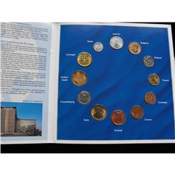 EURO ZONE COIN COLLECTION, 12 COINS