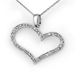 Natural 0.60 ctw Diamond Pendant 14K White Gold