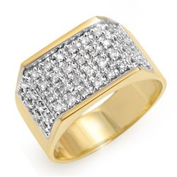 Natural 1.0 ctw Diamond Men's Ring 10K Yellow Gold