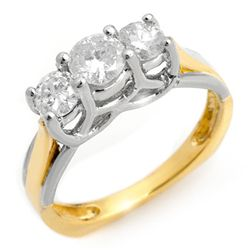Natural 0.75 ctw Diamond Ring 14K Multi tone Gold