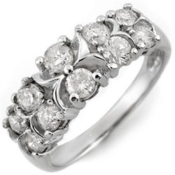 Natural 1.25 ctw Diamond Bridal Ring 10K White Gold