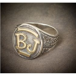 Buck Jones' Personal Sterling & Gold Ring