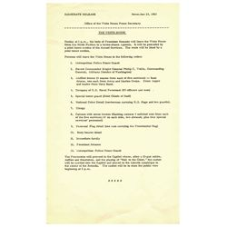 JFK Funeral Document