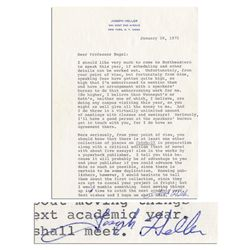 critical essays on catch-22 james nagel Joseph heller typed letter signed to professor james nagel, who was preparing a collection of critical essays on catch-22 in 1972, when this letter was written.