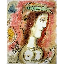 Ulysses and Penelope by Chagall from the Odyssey Suite.