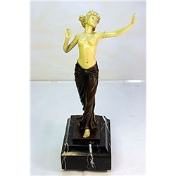 A Dancer - Bronze and Ivory Sculpture by Preiss