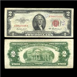 1953A $2 US Note Nice Condition SCARCE (COI-4710)