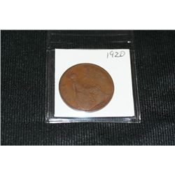 1920 English Large One Penny