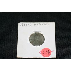 1988-D Unplated Lincoln Penny