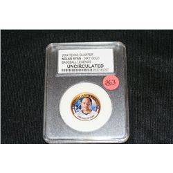 2004 Texas Quarter Nolan Ryan - 24KT Gold UNC