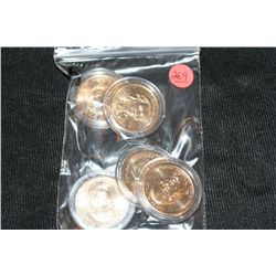 Lot of 5, Presidential $1 Coins