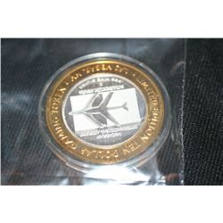 McCarran Airport 10 Dollar Gaming Token