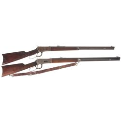Two Winchester Lever Action Rifles -A) Winchester Model 1892 Lever Action Rifle