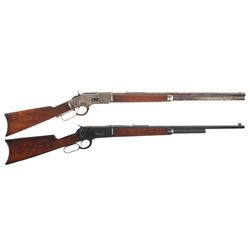 Two Winchester Lever Action Rifles -A) Winchester Model 1873 Lever Action Rifle