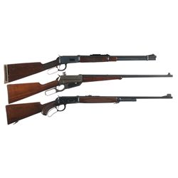 Three Winchester Lever Action Rifles -A) Winchester Model 94 Lever Action Rifle