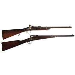 Two Antique Carbines -A) Enfield-Snider Mark III Cavalry Carbine