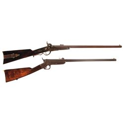 Two Civil War Carbines -A) Early Production Gallager Percussion Carbine