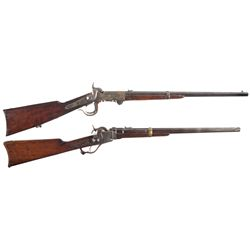 Two Civil War Carbines -A) Burnside 5th Model Percussion Carbine