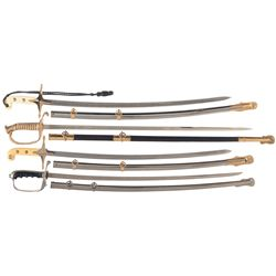 20th Century Marine, Navy, and Army Officers Swords