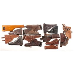 Grouping of Leather Accoutrements