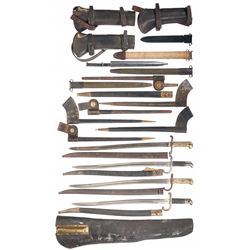 Grouping of Bayonets and Leather