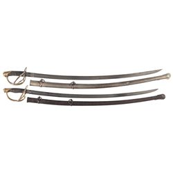 Civil War U.S. Model 1840 Heavy Cavalry and U.S. Model 1860 Light Cavalry Saber