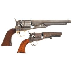 Two Colt Percussion Revolvers -A) Colt Model 1860 Army Percussion Revolver