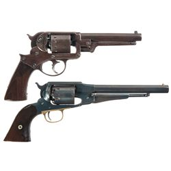 Two Percussion Revolvers -A) Starr Arms Co. 1858 Double Action Army Revolver