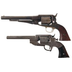 Two Percussion Revolvers -A) Remington Model 1861 Army Revolver