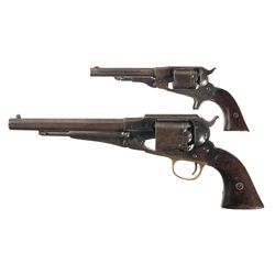 Two Remington Revolvers -A) Remington New Model Belt Cartridge Conversion Revolver