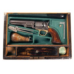 Cased Colt Model 1849 Pocket Single Action Percussion Revolver