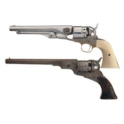 Two Percussion Revolvers -A) Copy of a Colt 1860 Percussion Revolver