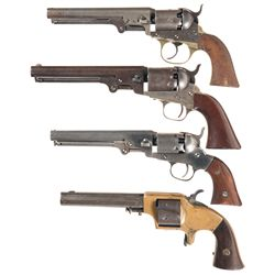 Three Percussion and One Cartridge Revolvers -A) Cooper Pocket Model Percussion Revolver