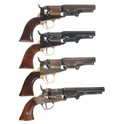 Four Percussion Revolvers -A) Colt Model 1949 Percussion Revolver