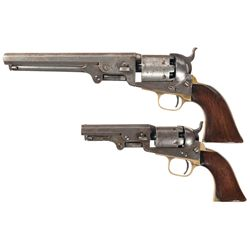 Two Colt Percussion Revolvers -A) Colt Model 1851 Navy Percussion Revolver