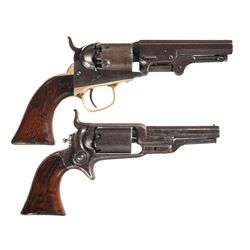 Two Colt Percussion Revolvers -A) Colt Model 1849 Pocket Percussion Revolver