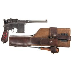1930 Mauser Broomhandle Semi-Automatic Pistol with Shoulder Stock
