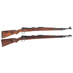 Two Model 98 Bolt Action Rifles -A) Rare Steyr  bnz/4  Model 98 Bolt Action Rifle with Single Rune M