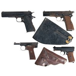 Four Semi-Automatic Pistols -A) Argentine Model 1927 Semi-Automatic Pistol
